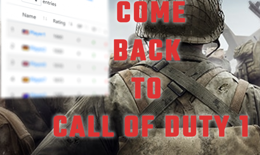Ladders come back to CoD1