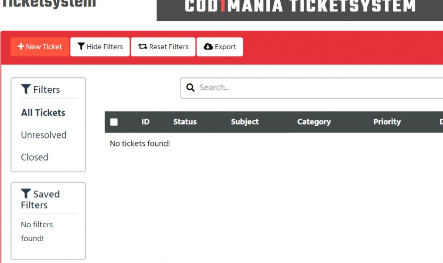 New ticket system