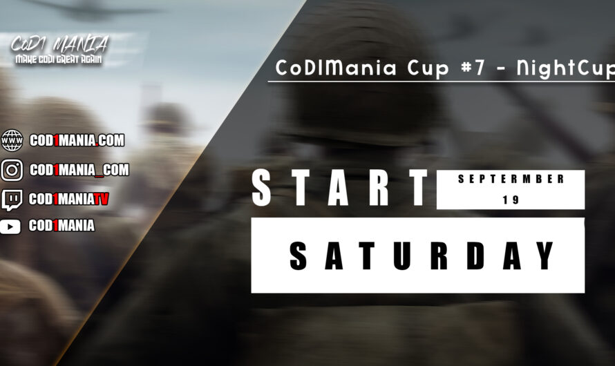 CoD1Mania Cup #7 – NightCup