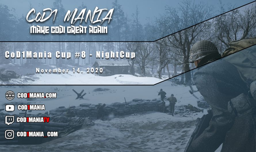 CoD1Mania Cup #8 – NightCup