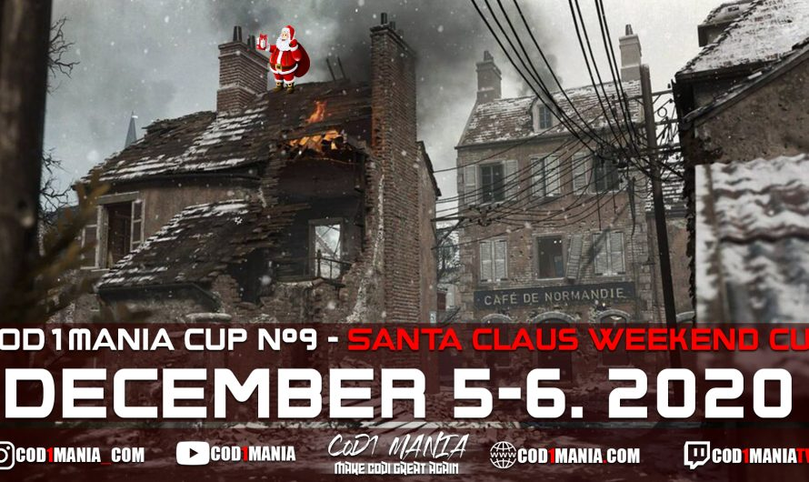 CoD1Mania Cup #9 – Santa Claus Weekend Cup